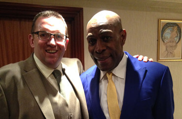 ian from IM Events meets Frank Bruno